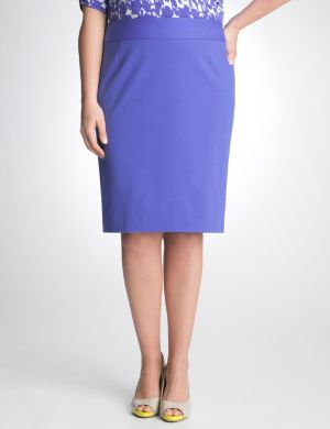 Colored ponte pencil skirt