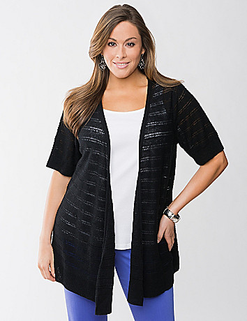 Full Figure Drop Stitch Cardigan by Lane Bryant