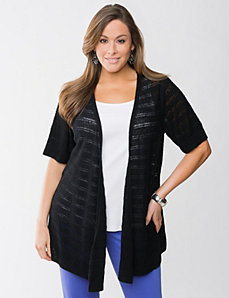Drop stitch linen cardigan