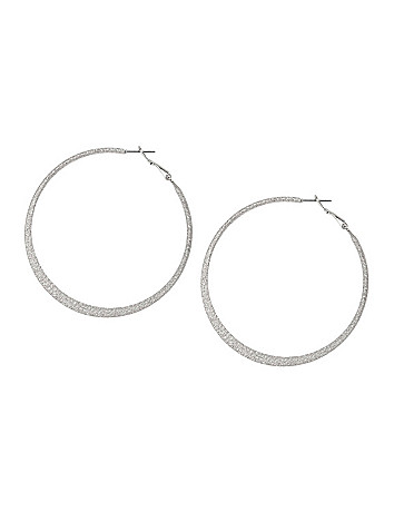 Dusted Flat Hoop Earrings by Lane Bryant