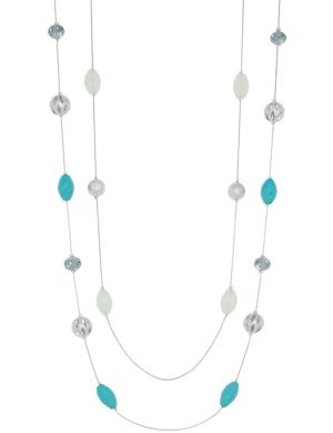 Two row filigree illusion necklace by Lane Bryant