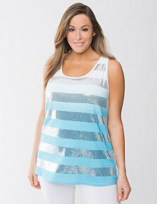 Ombre sequin tank by Lane Bryant