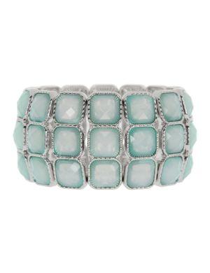 Square rhinestone bracelet by Lane Bryant