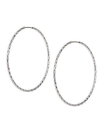 Laser Cut Hoop Earrings by Lane Bryant