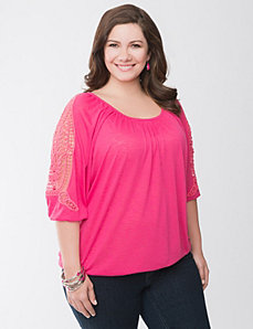 Crochet shoulder top by Lane Bryant