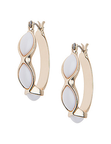 Three stone hoop earrings by Lane Bryant