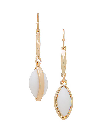 Single bead drop earrings by Lane Bryant