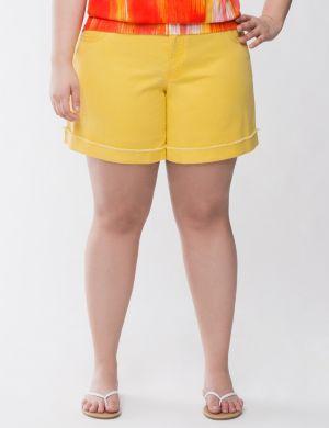 Colored denim short