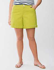 Colored denim short by Lane Bryant
