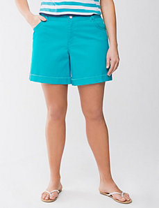 Plus-Size Shorts: Color- Turquoise Blue