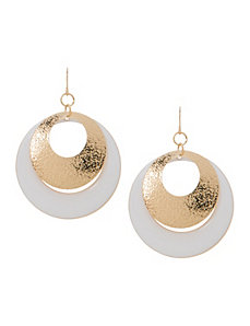 Dusted double hoop earrings by Lane Bryant