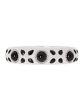 Hinged stone bracelet by Lane Bryant