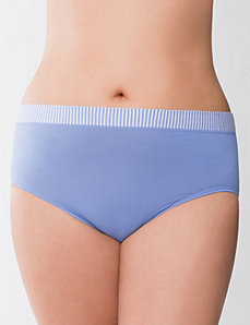 Plus Size cotton high leg panty