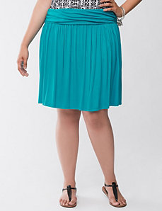 Knit flippy skirt by LANE BRYANT