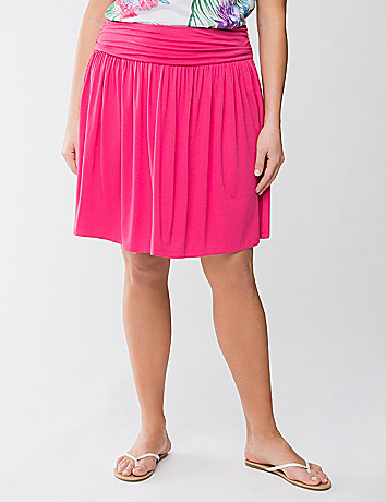 Plus Size Knit Flippy Skirt by Lane Bryant