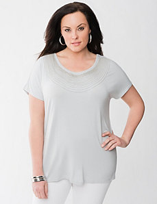Lane Collection necklace tee by Lane Bryant