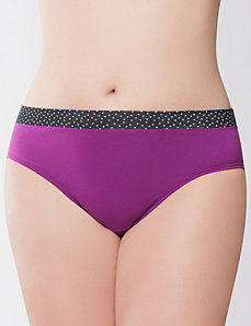 Contrast band cotton hipster panty by Cacique