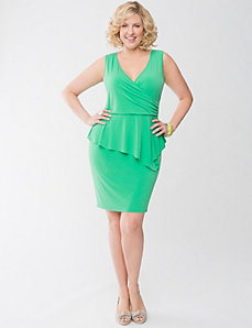 Peplum dress by Lane Bryant