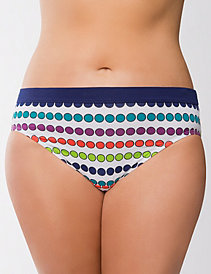 Sassy cotton printed hipster panty by Cacique