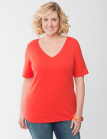 Plus Size V Neck Tee by Lane Bryant