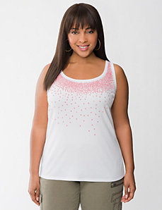 Sequin & bead ribbed tank