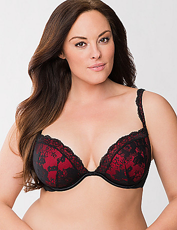 Bold Lace Plunge Bra by Cacique