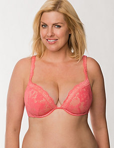 Bold lace plunge bra by LANE BRYANT
