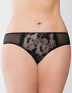 Bold lace tanga panty by Cacique