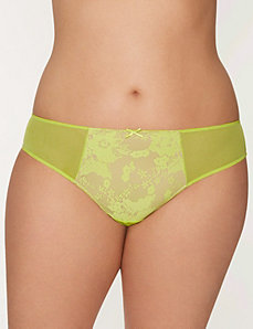 Lace front tanga panty
