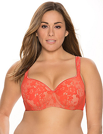 Bold Lace Balconette Bra by Cacique