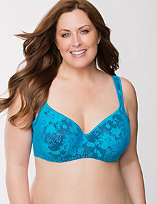 Bold lace balconette bra by LANE BRYANT