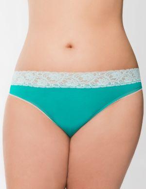 Sassy lace waist thong panty