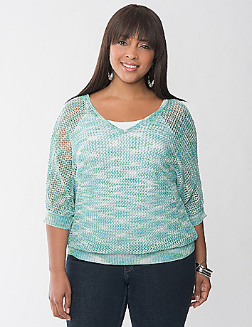 Metallic Dolman Sweater by Lane Bryant