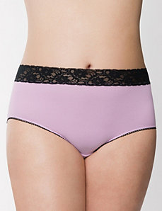 Sassy lace waist brief panty
