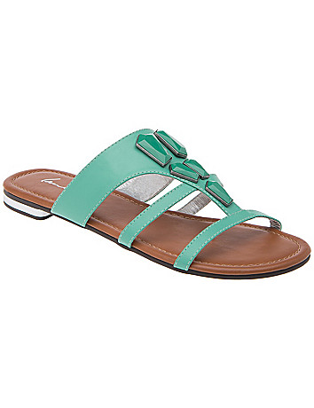 Wide Width Stone Front Sandal by Lane Bryant