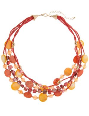 Multi row shell necklace by Lane Bryant