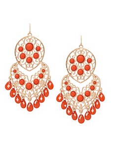 Filigree & stone earrings by Lane Bryant