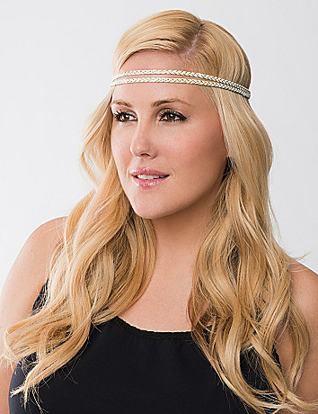 Metallic braided headwrap by Lane Bryant