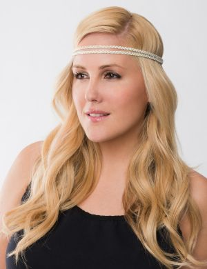 Metallic braided headwrap