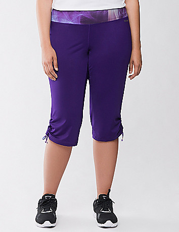 Tied hem active capri by Reebok