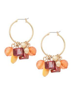 Beaded mini hoop earrings by Lane Bryant