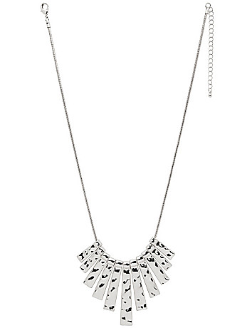 Hammered bars necklace by Lane Bryant