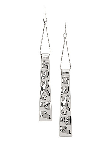 Bar & chain drop earrings by Lane Bryant