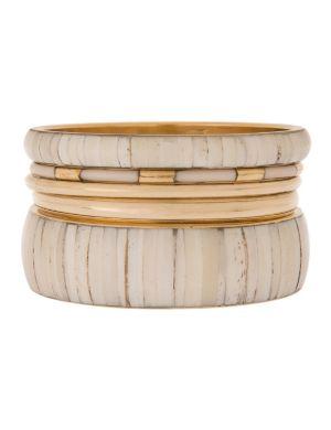 Bone bangle bracelet set by Lane Bryant