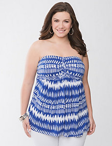 Tribal tube top by Lane Bryant