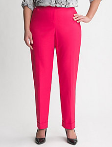 Double weave cuffed ankle pant by LANE BRYANT