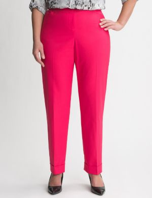 Double weave cuffed ankle pant