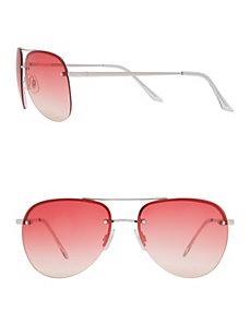 Colored lens aviator sunglasses by LANE BRYANT