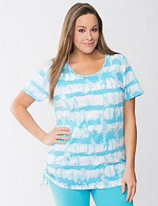 Embellished tie dye tee by Lane Bryant