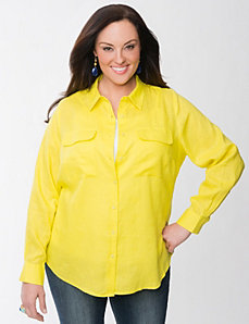 Lane Collection linen blouse by Lane Bryant